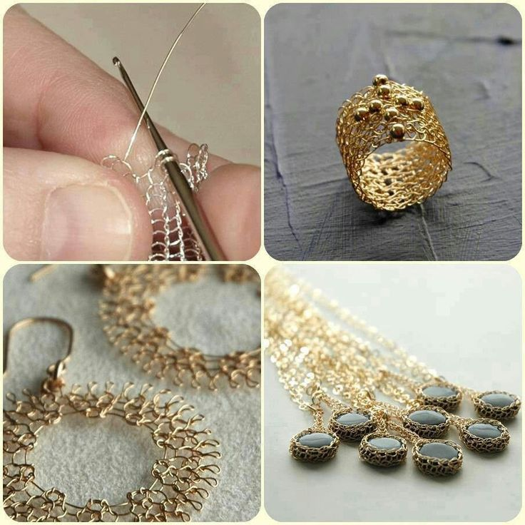 Wire crocheted jewelry - I want to learn!