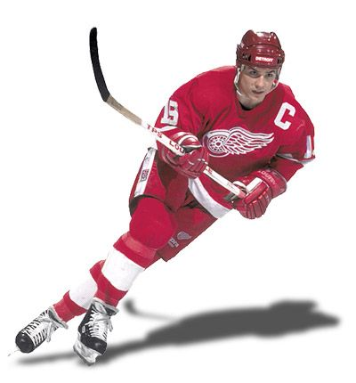 Steve Yzerman (the Captain): Inducted Hockey Hall of Fame in 2009. Born 9 May 1965 in Cranbrook, British Columbia, Canada. - Played 22 NHL seasons from 1983 to 2006.