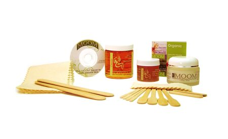 Moom Home Waxing Kit: USDA certified organic. 100% recyclable packaging