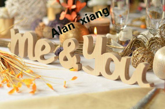 Вы и меня, я и вы, свадебного стола декор, свадьба знак подарок для свадьбы дерево письма белый или любой цвет подарок деревянные знаки старинные