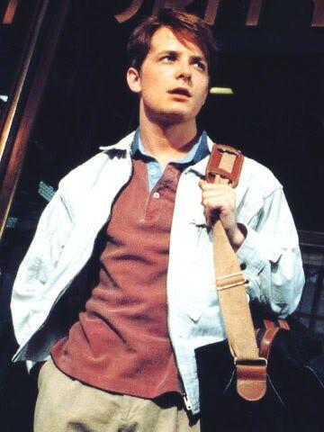 Michael J. Fox... I always had a crush on Marty McFly!
