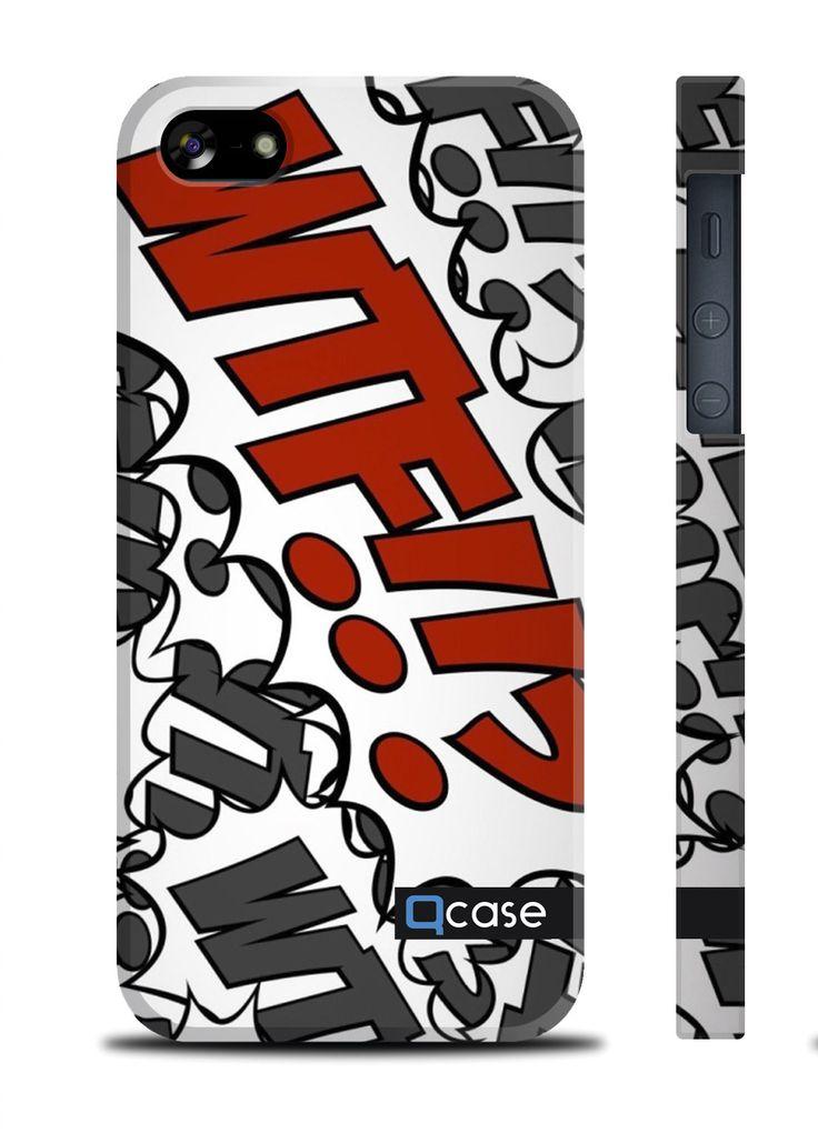 Чехол QCase для iPhone 5 | 5S WTF (пластиковый чехол, защитная пленка, заставка) купить в интернет-магазине BeautyApple.ru.