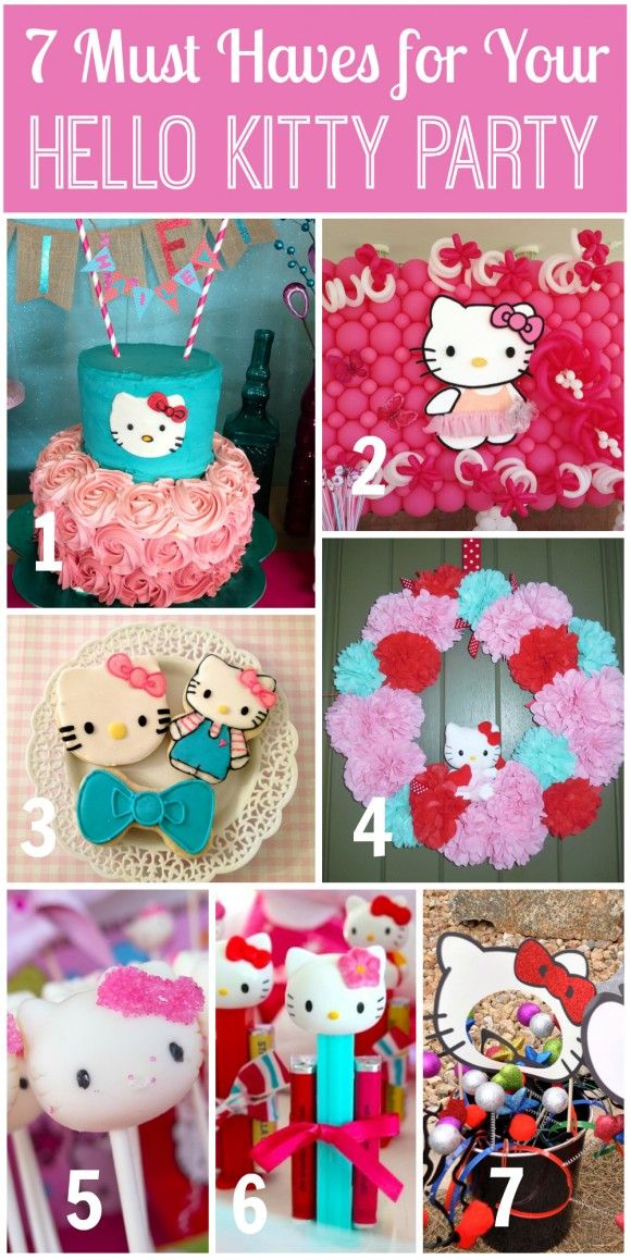 7 Must Haves for a Hello Kitty Party! | CatchMyParty.com