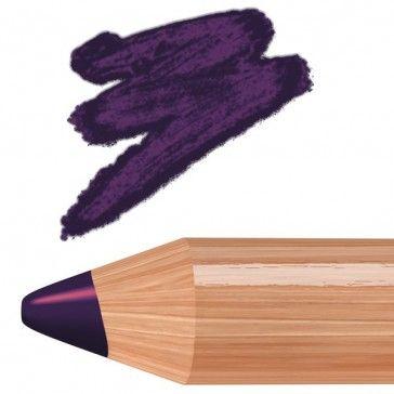 Viola indaco scuro intenso con glitter rosa/arancio.
