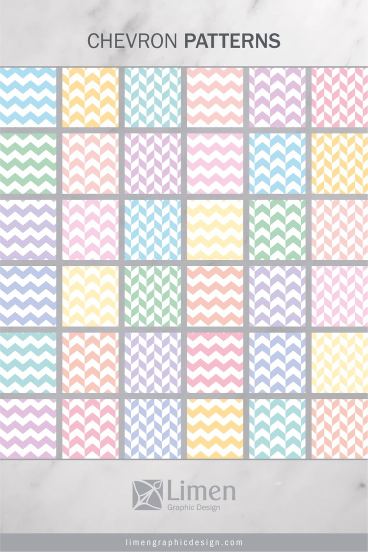 Pastel Color Chevron Patterns by Limen Graphic Design