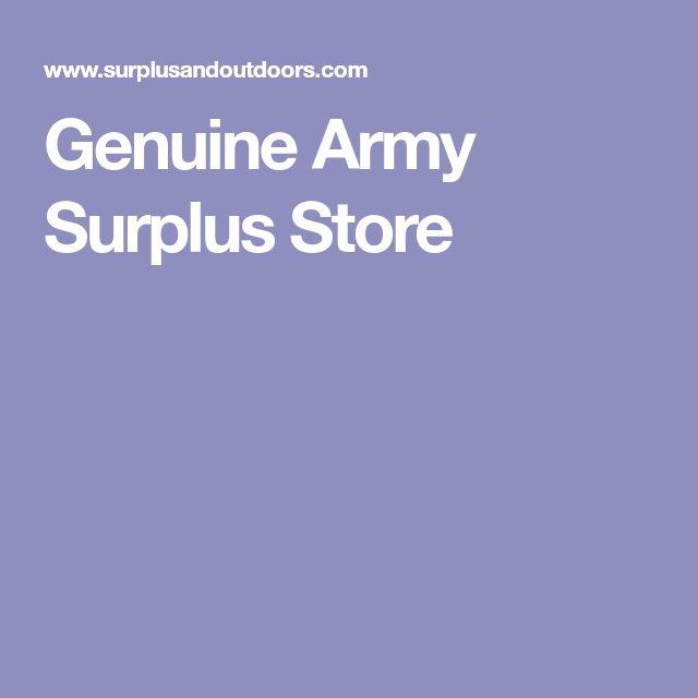 Genuine Army Surplus Store
