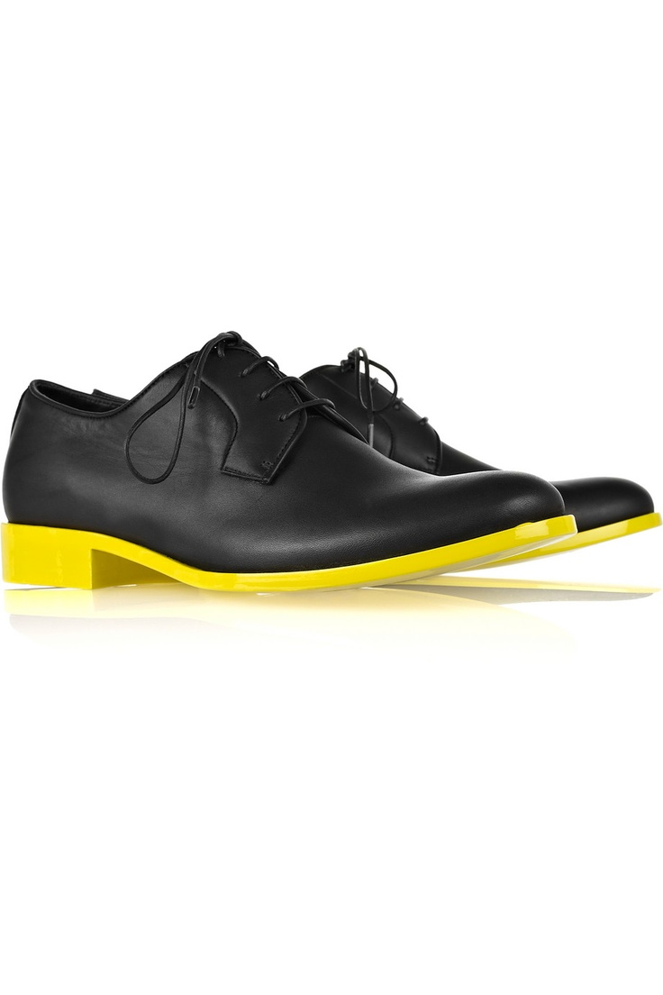 Jil Sander Two-tone leather brogues #jilsander #shoes #brogues