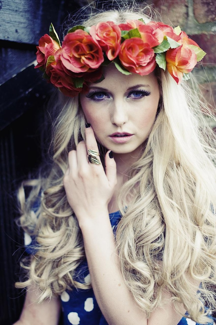 36 best halo heaven images on pinterest floral crowns crowns and flower maiden fantasy beautiful photography of women and flowers orange wreath izmirmasajfo Gallery
