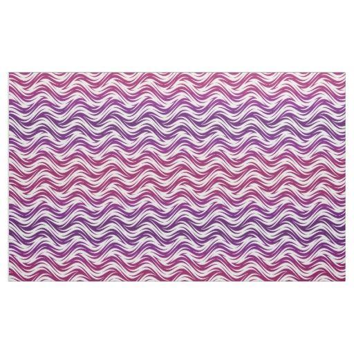 Purple waves pattern fabric