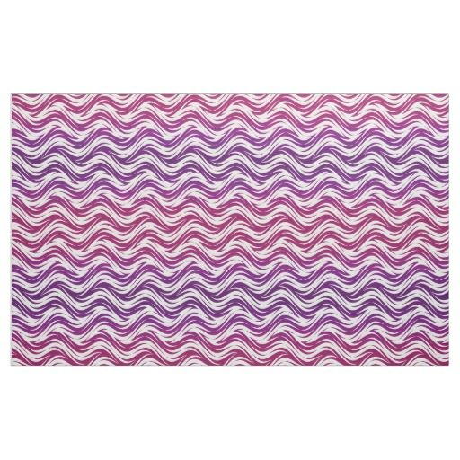 Purple waves pattern fabric