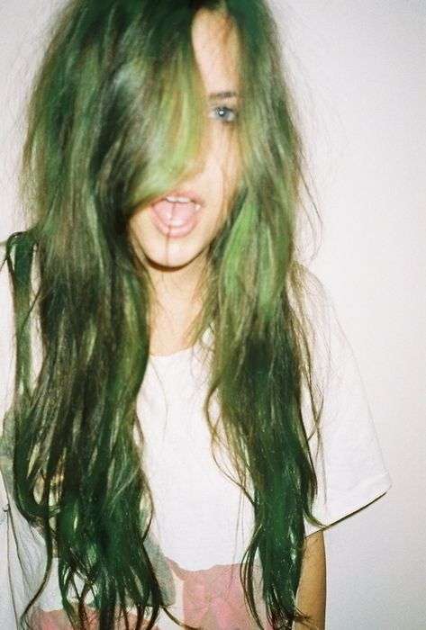 mint hair  nails mint green Pastel hair