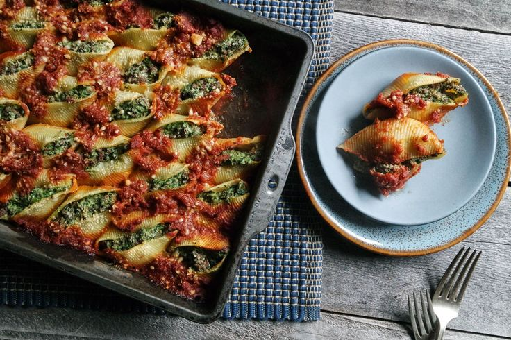 You'll love this recipe for these jumbo pasta stuffed shells with a rich filling of ricotta, mozzarella, spinach and ground venison.