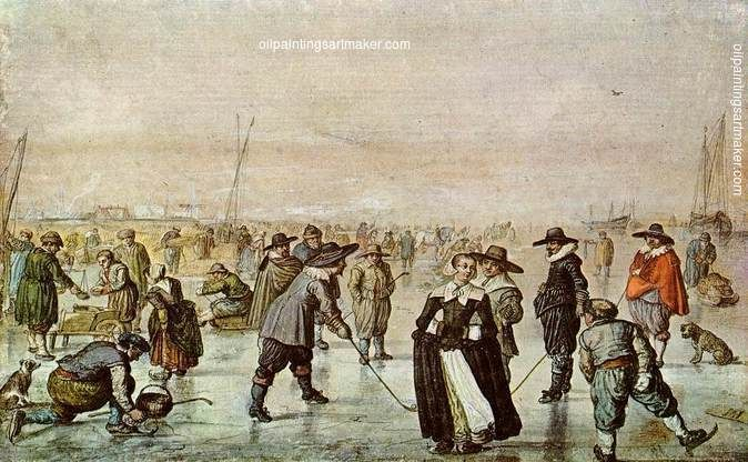 Barent Avercamp A Scene on the Ice, painting Authorized official website