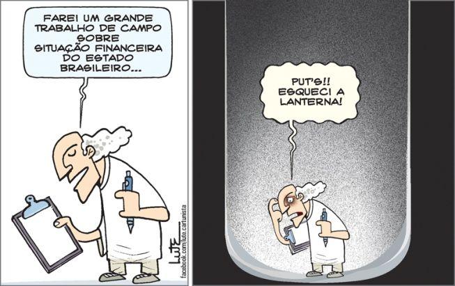 Charge do Lute sobre a atual situação do Brasil (14/02/2017) #Charge #Brasil #Economia #FundoDoPoço #HojeEmDia