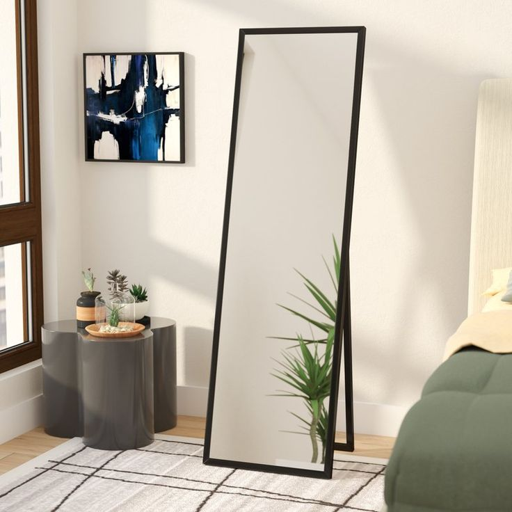 Full Length Mirror Floor, Black Large Free Standing Mirror