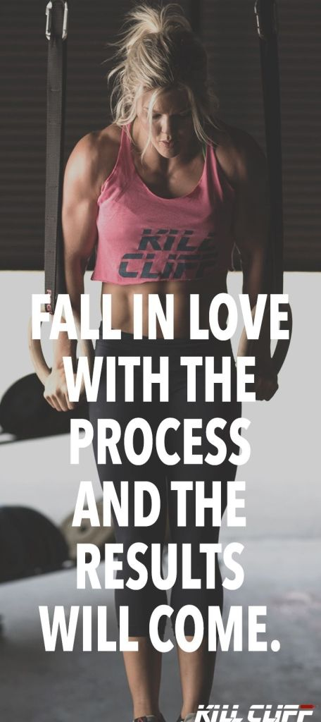 Fall in love with the process and the results will come.