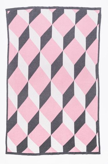 Kate & Kate Baby Blanket - The Kiss - Coral Blush