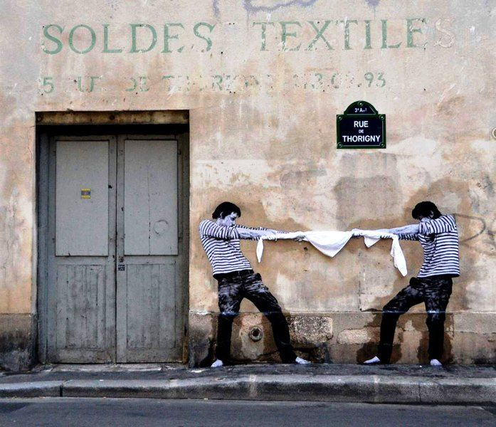 Seni Jalanan Lukisan Mural di Kota Paris di Perancis 2