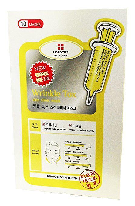 Leaders Wrinkle Tox Skin Care Clinic Masks 10 Sheets Korean Cosmetics Anti-aging Wrinkle