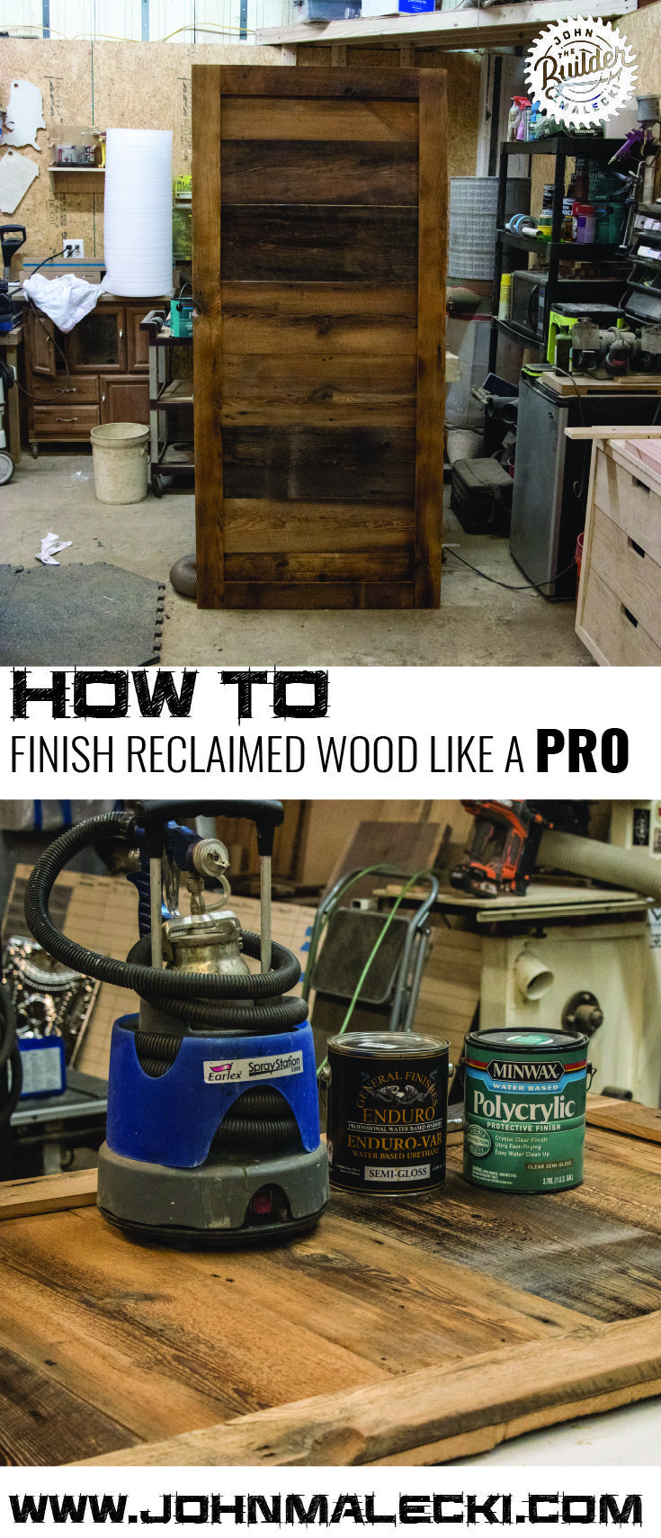 DIY Woodworking Ideas Learn How to finish reclaimed wood like one of the pros! #woodworking #diy #Furn...