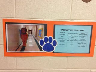 PBIS expectations displayed in hallways