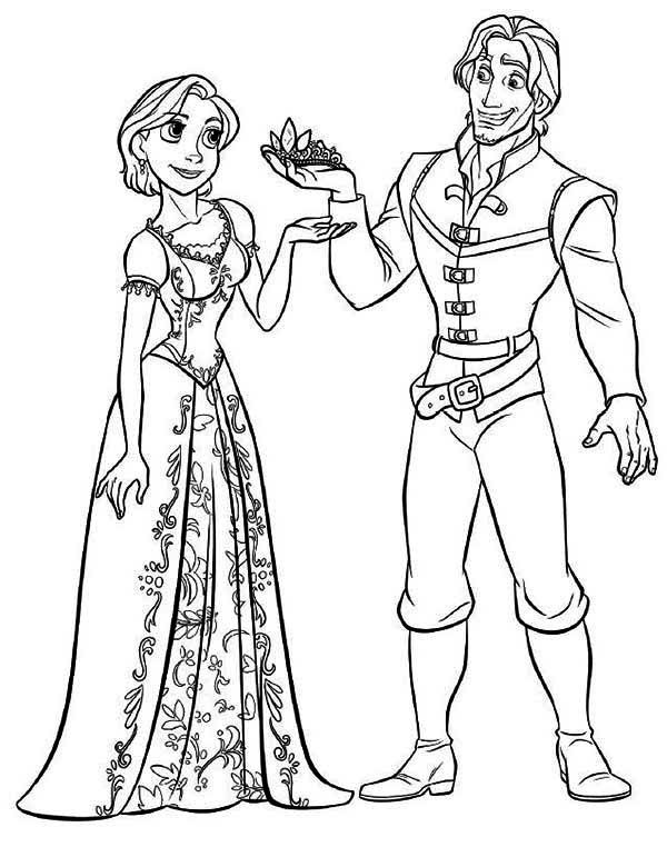 barbie as rapunzel coloring pages