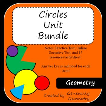 Geometry circles activities, secants, tangents, chords, area, circumference
