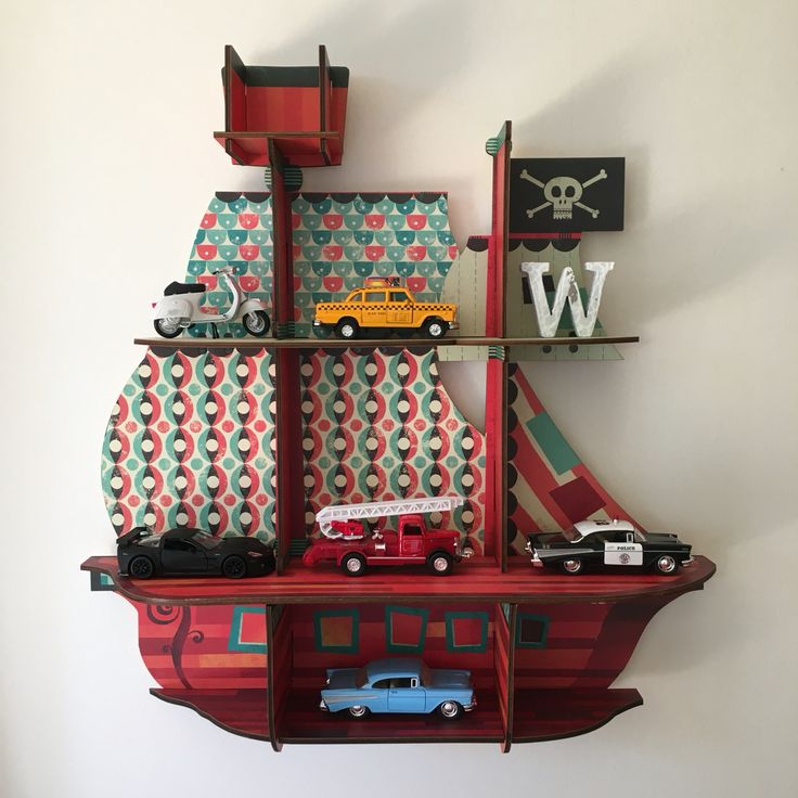 #Nursery#lastenhuone#Djeco#shelf#hyllykkö#merirosvolaiva#pirateship