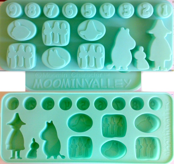 Moomin silicon mold mould ice cubic cup cube by GORGEOUSCUPS, $14.99