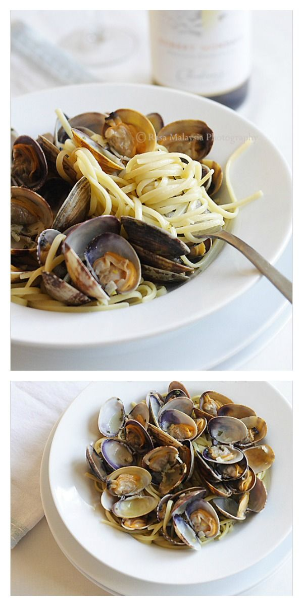 Linguine alle Vongole recipe. Crazy delicious Italian pasta with clams with white wine. Make it at home at a fraction of the cost at restaurants   rasamalaysia.com