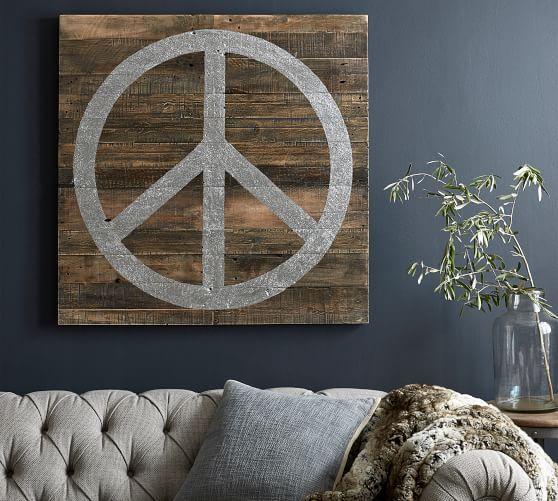 Glitter Peace Wall Art In 2020 Triptych Wall Art Peace