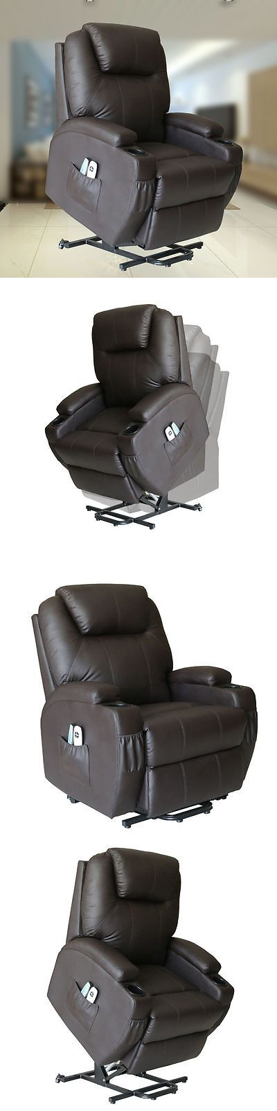 Electric Massage Chairs: Shiatsu Massage Chair Electric Recliner Sofa Heat Power Lift Coffee 2 Control -> BUY IT NOW ONLY: $489.99 on eBay!