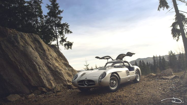 """Mercedes-Benz 300SLR """"Uhlenhaut coupe"""" model in 1:18th scale by CMC"""