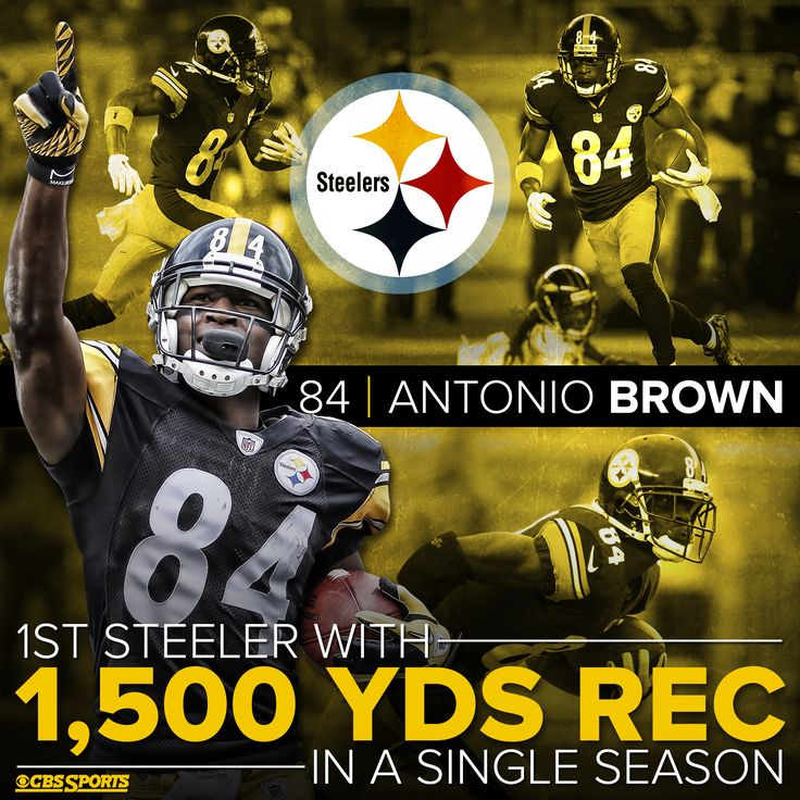 Antonio Brown is already an all-time great for The Pittsburgh Steelers.  He broke the franchise's single-season receiving record.