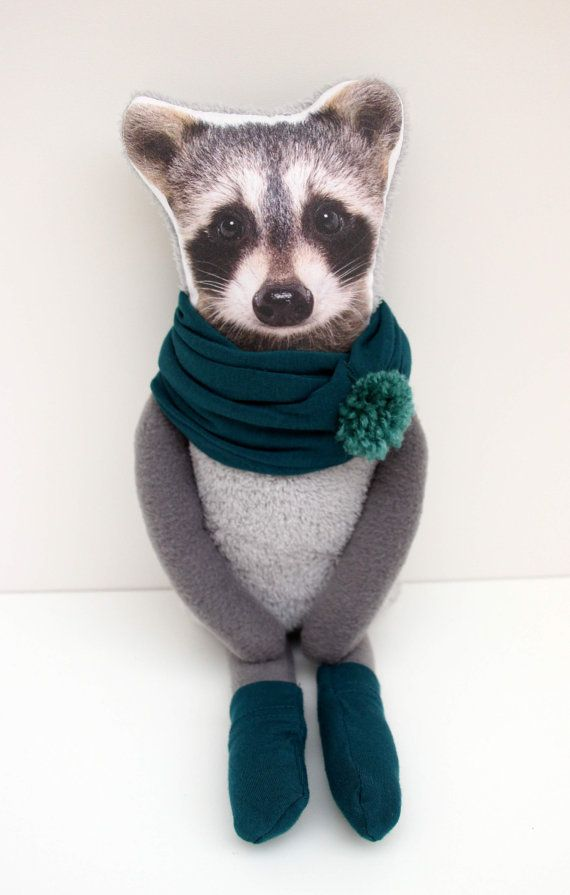BABY RACCOON raccoon soft toy plush raccoon by NATURALLIVINGpl