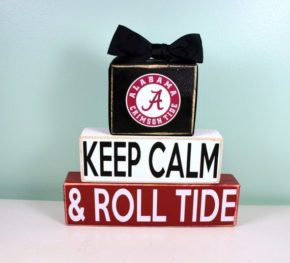 Keep Calm and ROLL TIDE Alabama Crimson by LastDayofForeverHome, $25.00