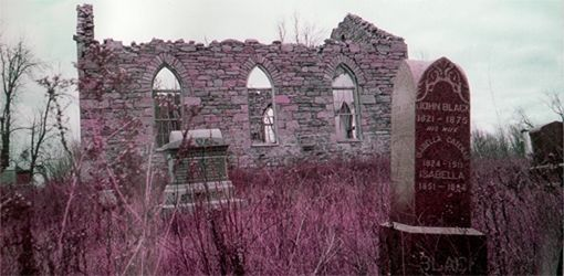 Abandoned Presbyterian Church in the County of Huntingdon, Montreal, Quebec.
