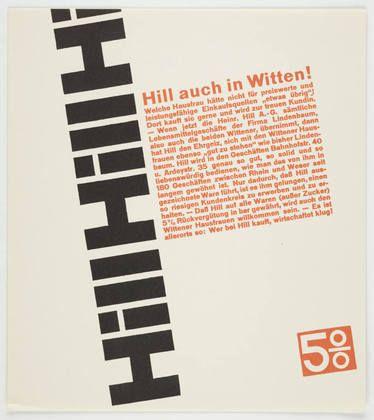 Anton Stankowski. Hill auch in Witten. 1929