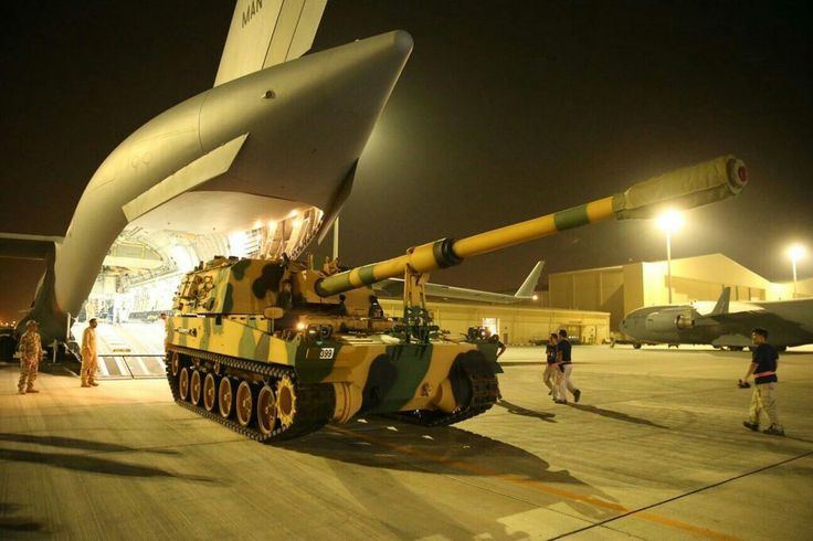 "Turkey, 155mm (SPG) howitzers ""T-155 Fırtına""  / Turkish Military Base in Qatar"