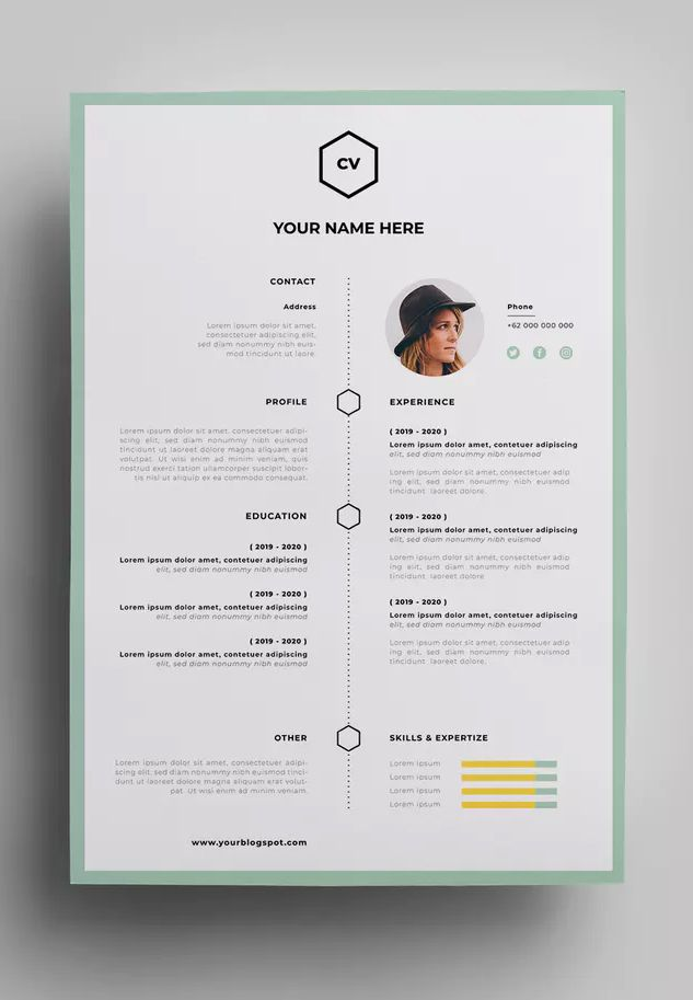 Resume Design Templates 08 By Surotype On Envato Elements Resume Design Template Resume Design Template Design