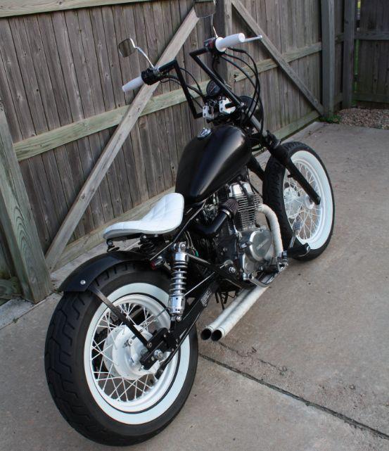 Black & White   harleys   Bobber motorcycle, Honda bobber ...