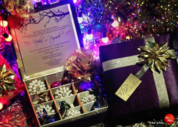 Caja del chocolate caja de regalo caja de la invitación de