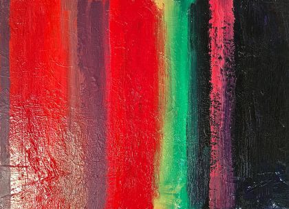 Red and Green abstract painting