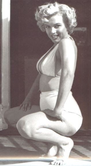 Marilyn Monroe. Wasn't that skinny but she was still beautiful back then but now she wouldn't be beautiful. I don't understand the world. Why we do this to ourselves and to other people.