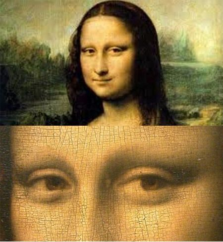 "Intrigue is usually focused on her enigmatic smile. However, when viewed under a microscope, historians in Italy have discovered that by magnifying the eyes of the ""Mona Lisa"" tiny numbers and letters can be seen.  Experts say the barely distinguishable letters and numbers represent something of a real-life Da Vinci Code: in the right eye appear to be the letters LV which could well stand for his name, Leonardo Da Vinci, while in the left eye there are also symbols but they are not as…"