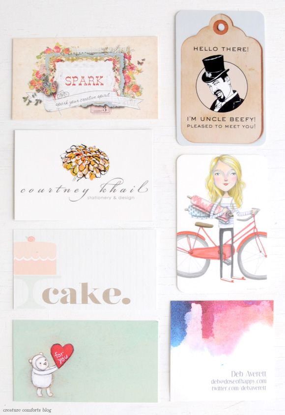 The Business Cards of Alt Summit2012 | Shared on Creature Comforts Blog