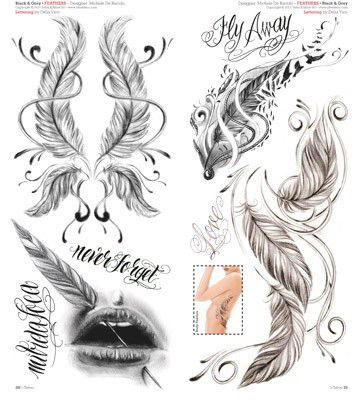 Feder Tattoo Designs