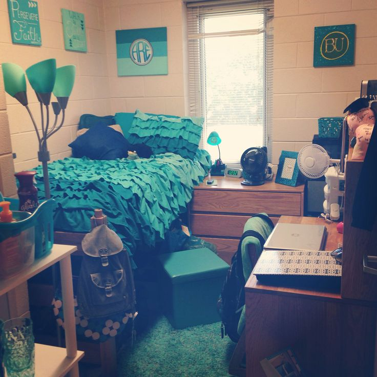 My dorm room in the private quads at Belhaven University  ~ 135947_Turquoise Dorm Room Ideas