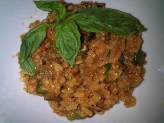 Risotto aux saucisses italiennes