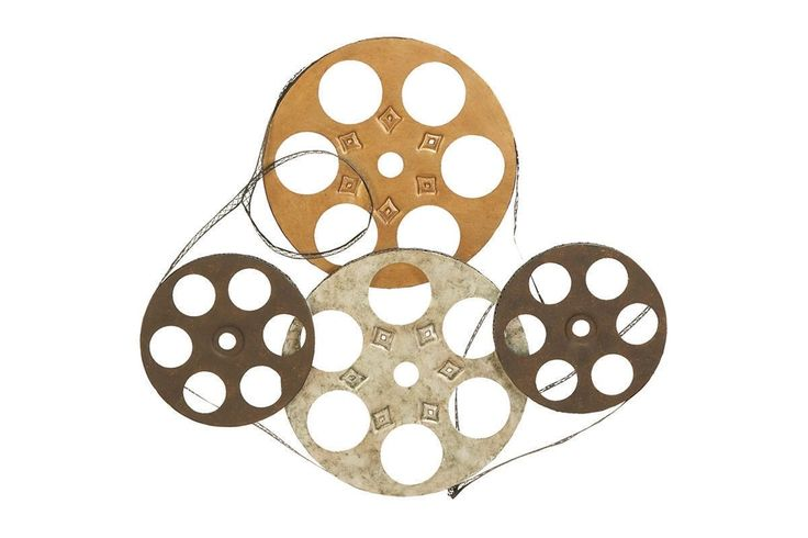 Film Projector Metal Reels Wall Art Sculpture Theater Hollywood Movie Decor